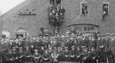 Church Lads Brigade volunteers for 16 Battalion King's Royal Rifle Corps at Moor House Farm.